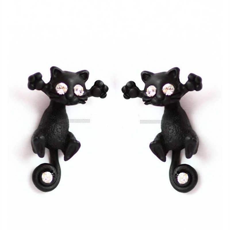 2018 Aros en alliage de Zinc boucles d'oreilles Brinco 1 paire populaire longue queue petit léopard pour chat ponction et boucles d'oreilles pour femmes