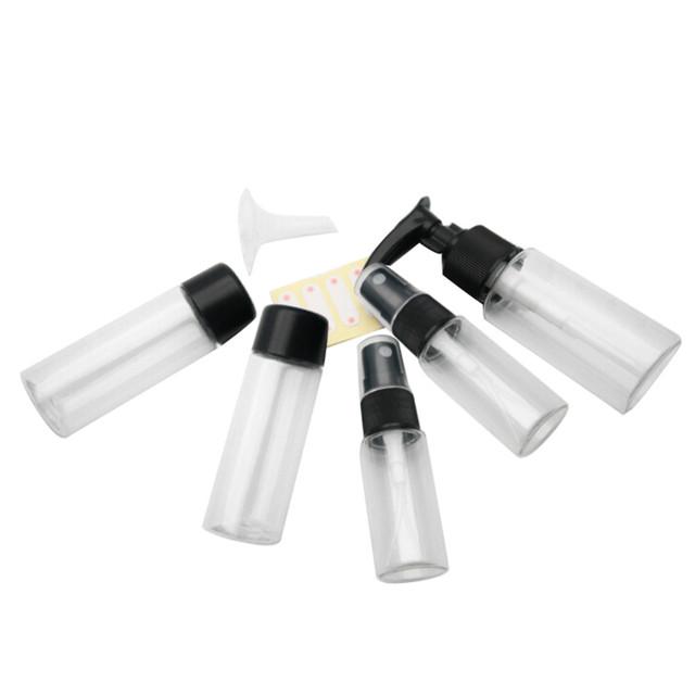 Portable 7pcs/set Transparent Plasic Travel Kit Make Up Spray Bottle Refillable Bottles Cosmetic Bottlesdropship Z0426 4 65