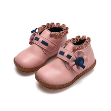 High quality Autumn Baby girls leather shoes Kids princess Girls ankle boot soft-soled shoe Toddlers 1-13years