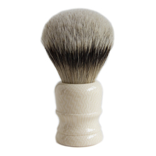 Resin Handle Silvertip Badger Shaving Brush Barber Shop Beard Shape Bathroom Hair Remove