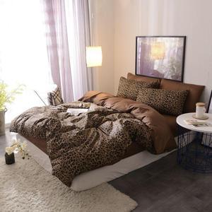 Image 3 - Brown Leopard 100% Katoen Twin Beddengoed Set Queen King Size Bed Set Dekbedovertrek Laken Hoeslaken Ropa De cama Parure De Lit