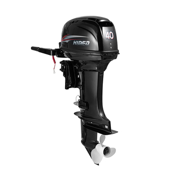 HIDEA Outboard Motor 40HP 2 Stroke Inflatable Fishing Boat Engine Rear Control Long Shaft with Ignition System ECU Two Cylinde