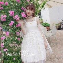 Sweet princess lolita dress cute moon cat printing vintage lace mesh victorian dress kawaii girl gothic lolita jsk loli cos