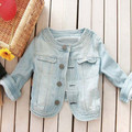 Looking confident handsome small T-shirt out denim jacket WJ342