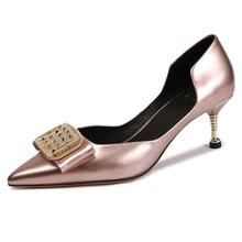 VALLU 2019 Spring Shoes Pumps Women Thin Heels Genuine Leather Pointed Toe Cow Leather Lady High Heel Shoes цена в Москве и Питере