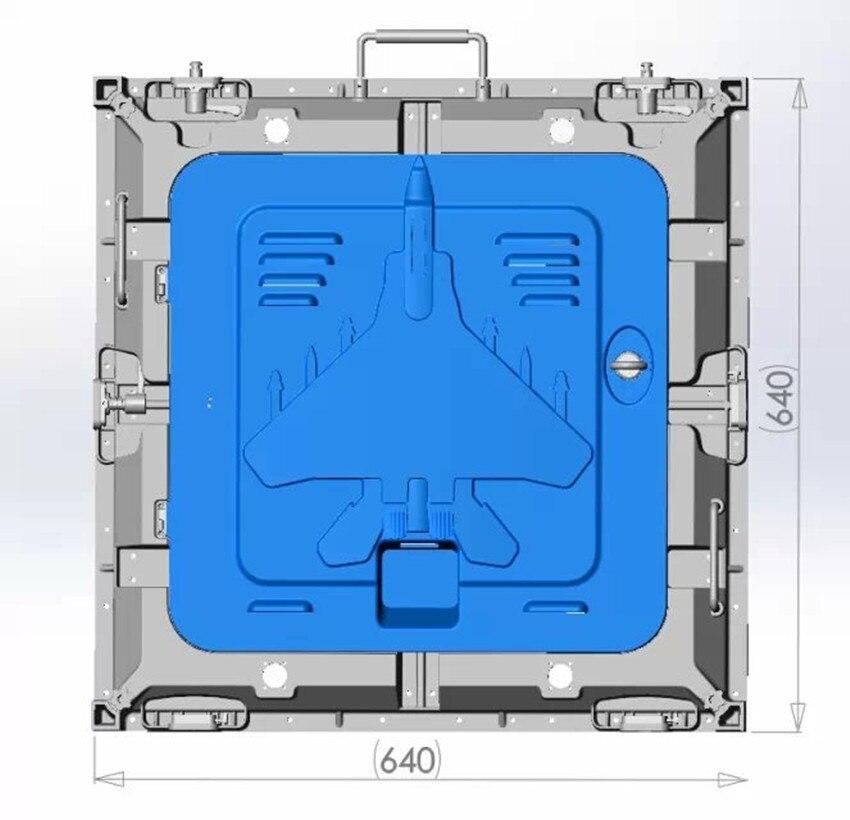 P10 Indoor 640*640mm 4scan Die-casting Aluminum Rental Cabinet Led Board, Smd 3 In 1 Full Color,10000dots/m2