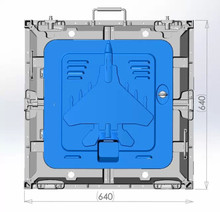 P10 indoor 640 640mm 4scan die casting aluminum rental cabinet led board smd 3 in 1
