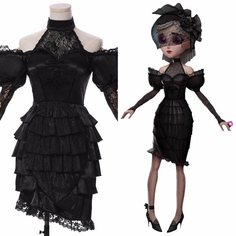 Identity V Vera Nair Cosplay Costume Womens Lolita Dress Wig Shoes Halloween New