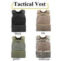 Molle System Vests Military Tactical Protective Vest 900D Oxford Cloth Adjustable Ourdoor Hunting Airsoft Shooing Vest