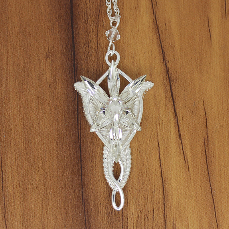 925 Sterling Silver Arwen Evenstar Pendant with Silver Chain Movie Jewelry Fashion Gift for Girlfriend Wife