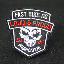 Pulaqi Skull Rock Patch On Clothes Iron On Patches Embroidered Patches For Clothing Punk Biker Patch Badges Stickers For Clothes hot sale mixed 14pcs full set for bandidos mc embroidered patch iron on jacket leather vest rider punk full back size patch g046