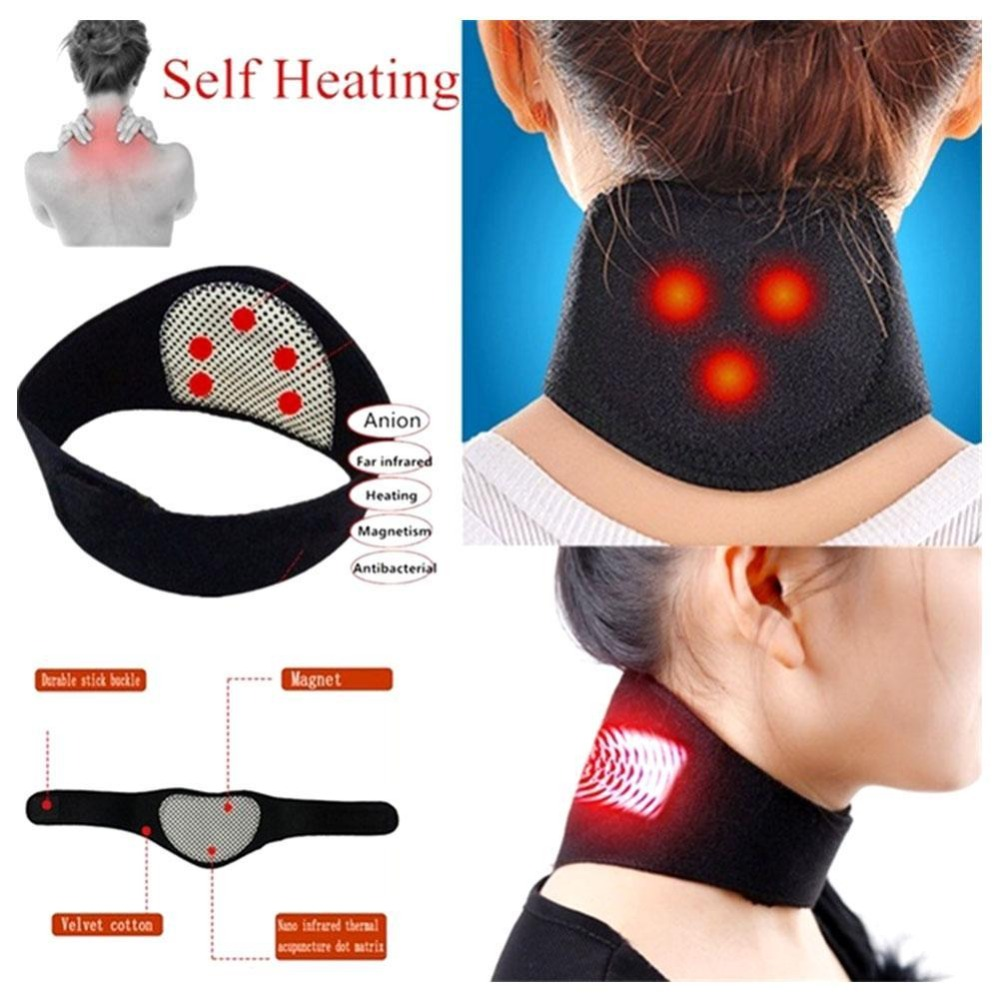 Magnetic Therapy Neck Massager Self-heating Neck Massage Pain Relieve Neck Warmer Guard Chinese Medical Massagers Tool Neck Care