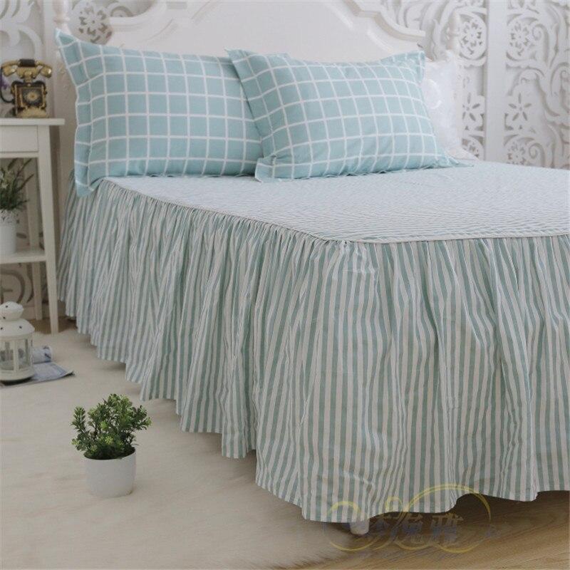 Plaid classico set di biancheria da letto luce bel plaid copripiumino casa letto tessile lenzuolo della banda della principessa gonna letto copriletto lino - 6