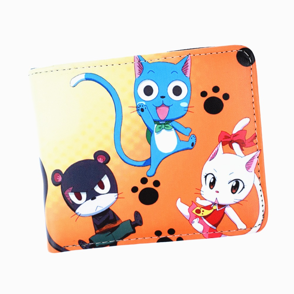 Anime Cartoon Fairy Tail Wallet Credit Card Purse With Photo Holder Coin Purses
