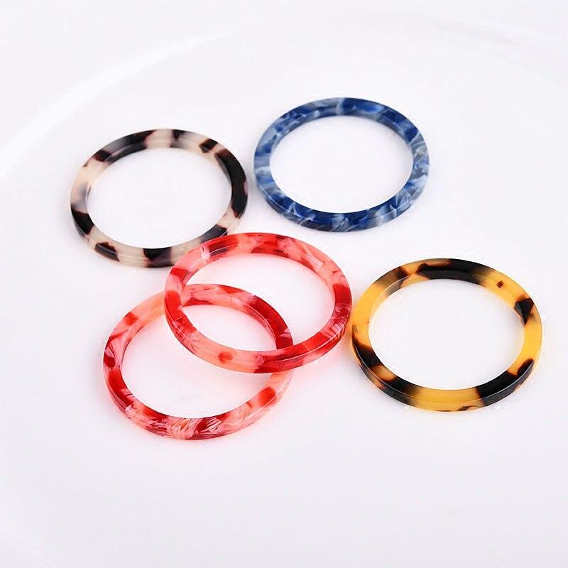 DIY Accessories Korea Acetate Circle Ring Earbob Minimalist Geometric Earrings Materials.