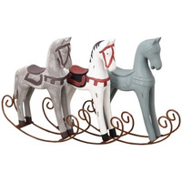 Creative Wooden Rocking Horse Handmade Ornaments Multi Function Home Bedroom Desktop Decoration Crafts Children Birthday Gifts