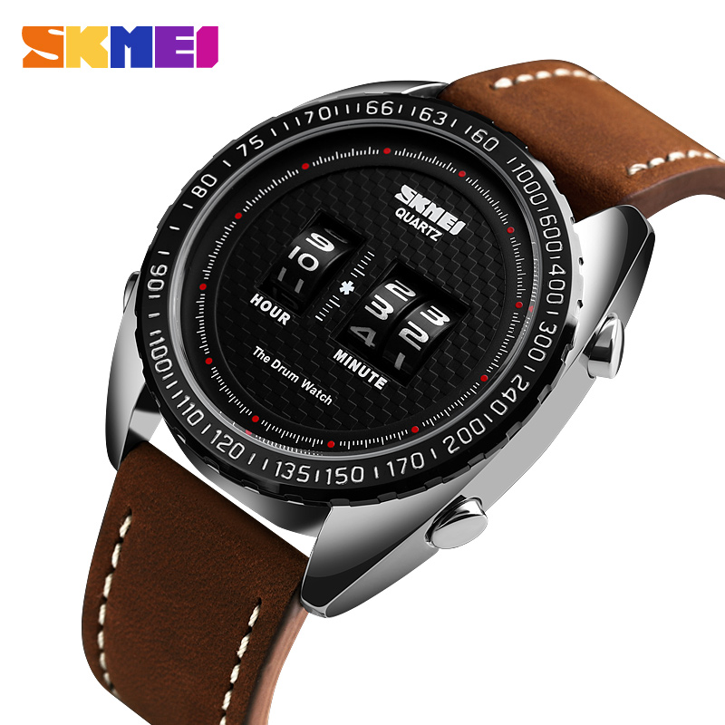 SKMEI2019 Fashion Quartz Watch Men Watches Top Brand Luxury Male Clock Business Leather Dress Mens Wrist Watch Relogio Masculino image