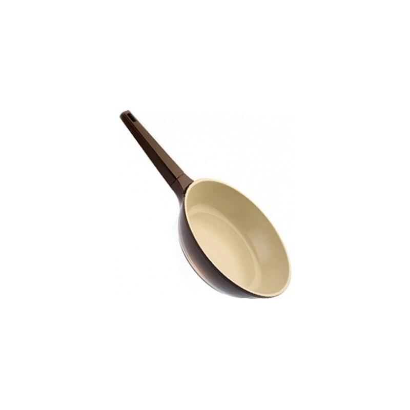все цены на Frying pan without lid Biostal Bio-FPD-26 brown/beige 26 cm онлайн