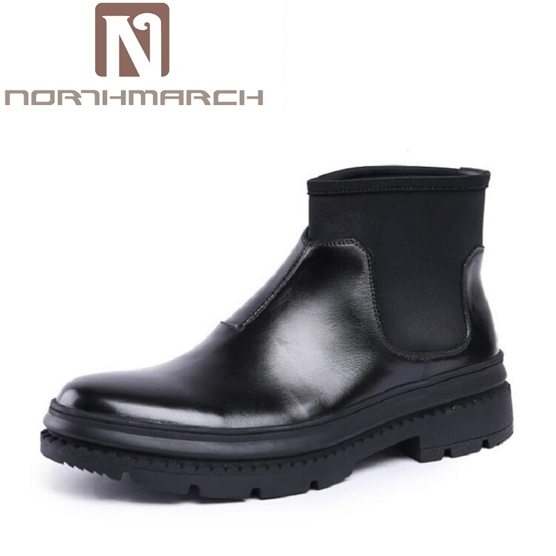 NORTHMARCH Brand New Chelsea Boots British Style Comfortable Male Thick Soles Ankle Boots Slip-On Casual Shoes Botas Hombre mycolen brand new chelsea boots british style fashion comfortable male thick soles ankle boots slip on casual shoes botas hombre