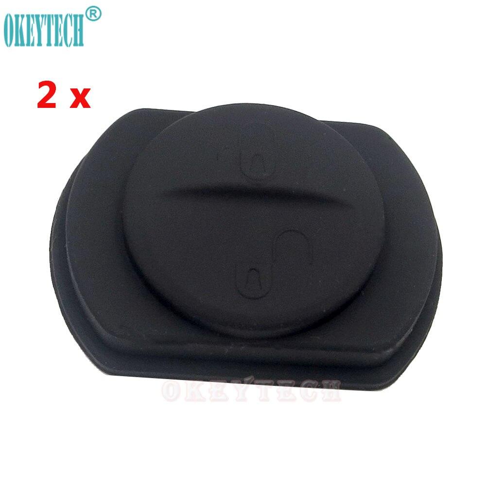 OkeyTech 2 шт. хорошее качество кнопочный ключ Ремонт для Mitsubishi Colt Warrior 2 кнопки силиконовая Кнопка Бесплатная доставка