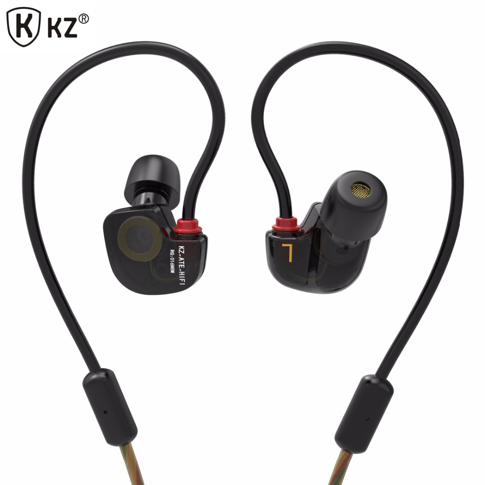 Original KZ ATE S in ear Earphones HIFI Copper Driver earphones With Mic Super Bass earphones For iphone xiaomi phone PC/MP3/MP4 kz ed9 in ear 3 5mm super bass in ear earphones silver