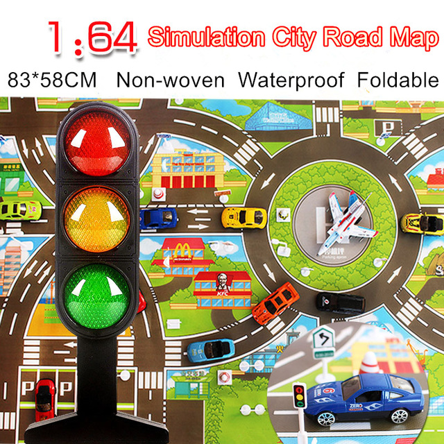 Waterproof 8358cm Car Toy Playmat Simulation Toys City Road Map