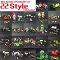 22 Estilo 7.5 cm Playmobil Muñecas Kit de Zoológico de La Ciudad Zoológico de mascotas juguetes para niños Figura de Acción Kit Playmobil mini Ladrillos de juguete de Regalo