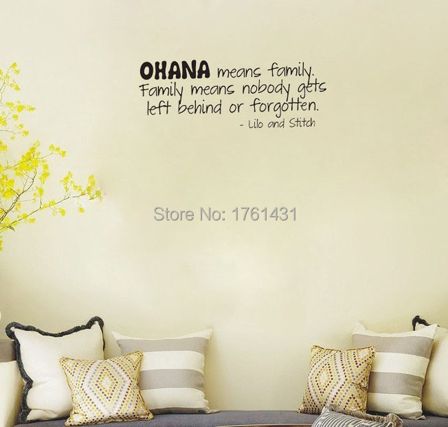 Lilo and Stitch Ohana Family wall decals vinyl stickers home decor living room decoration bedroom wallpaper  sc 1 st  AliExpress.com & Lilo and Stitch Ohana Family wall decals vinyl stickers home decor ...