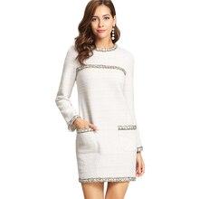 Tweed Oothandel Gallerij White Goedkope Dress Koop kXiZOuPT