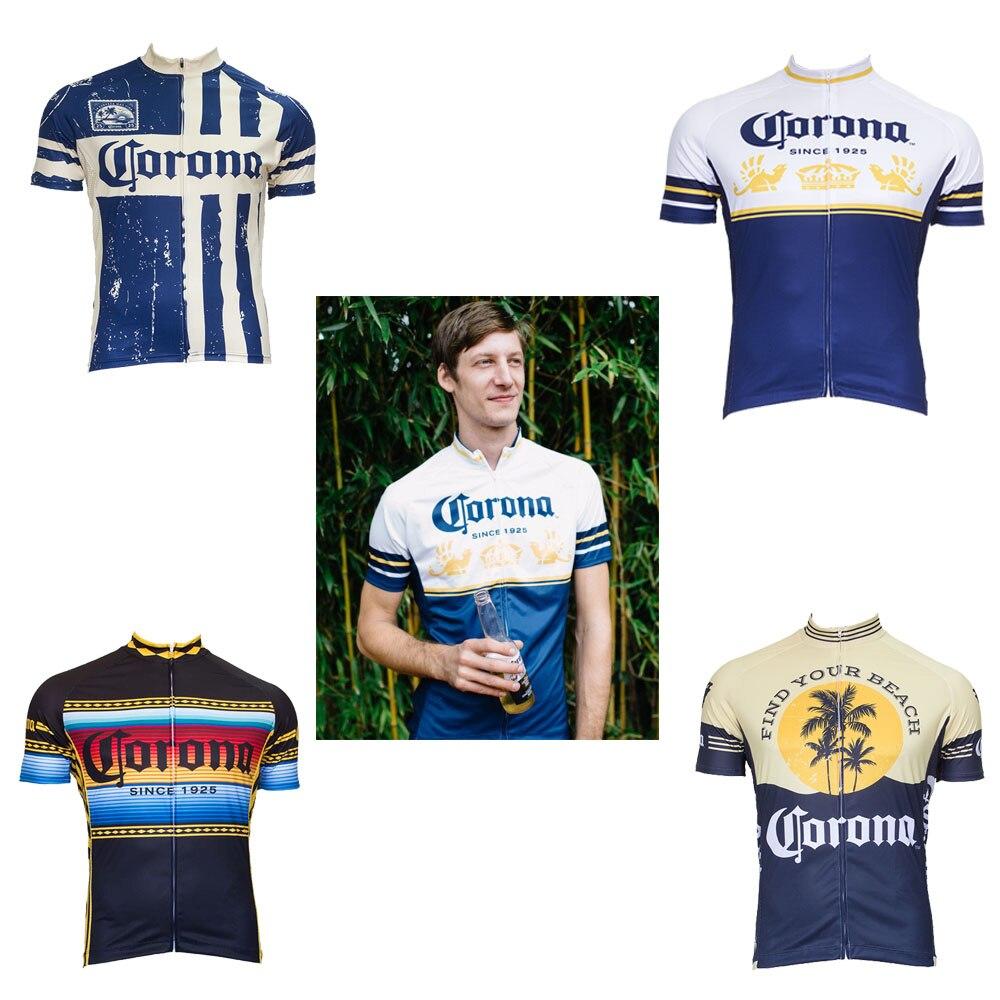 2018 klassische corona radfahren jersey ropa Ciclismo männer kurzarm radsportbekleidung trikot außen bike wear Retro jersey