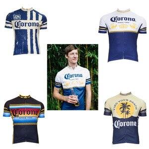 2019 classic corona cycling jersey ropa Ciclismo men Short sleeve cycling clothing maillot outdoor bike wear Retro jersey(China)