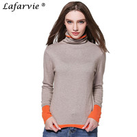 Lafarvie Hot Sale Quality Cashmere Blended Autumn Winter Cashmere Sweater Scarf Collar Full Sleeve Knit Women