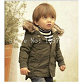 2016 Retail High Quality! New Style Boys winter Hooded Coat Children clothing jacket for boys Kids Clothes