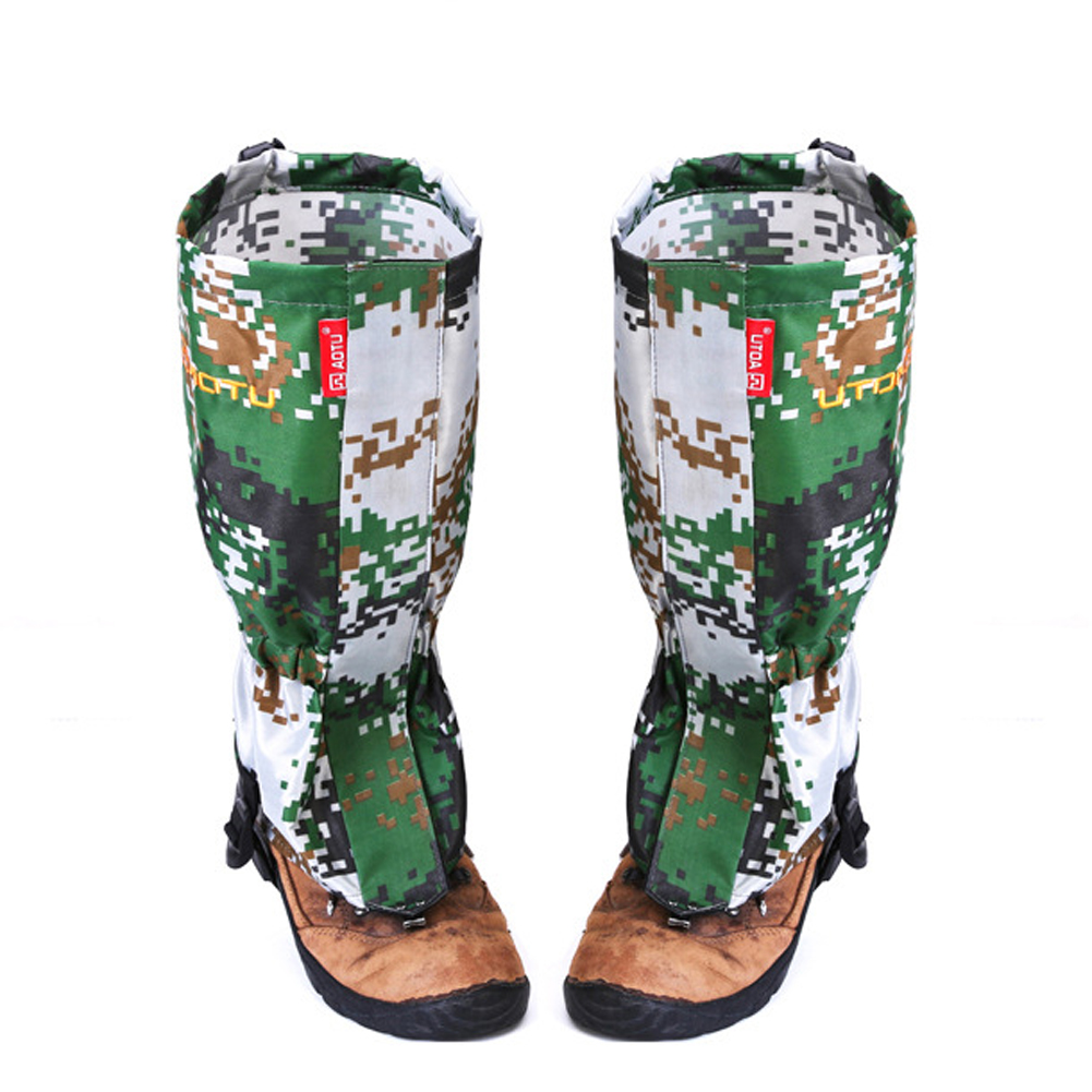Snow Cover Camouflage Water Resistant Shoe Bindings Legging Gaiters Outdoor Skiing Rainy Days Camouflage Boots Cover Waterproof
