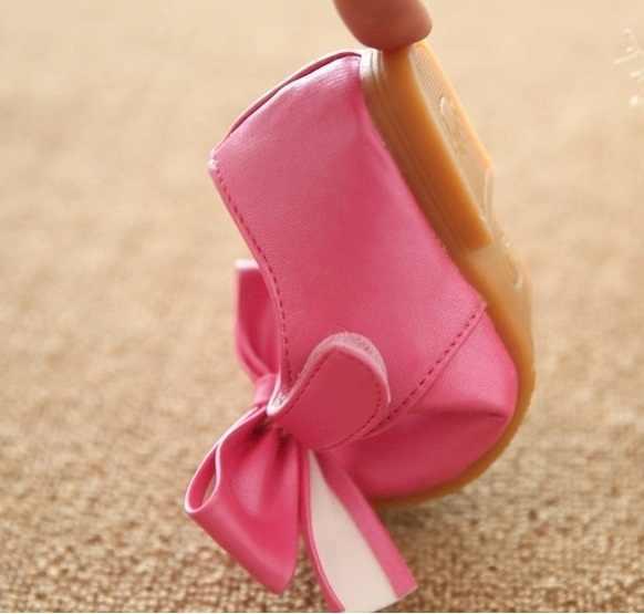 עור נסיכת ילד נשי בנות ילדי סתיו shoes עניבת פרפר נסיכת ילד נעלי גודל עור 21-30 בנות shoes הנעלה