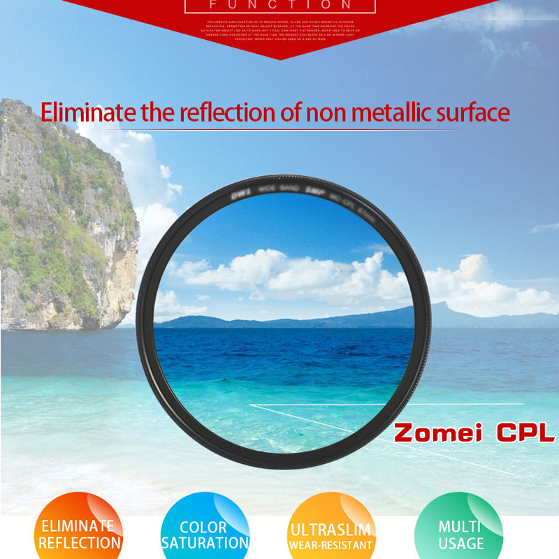DHD digital marcas filtro CPL POLARIZADOR 77mm filtro polarizador 77 mm