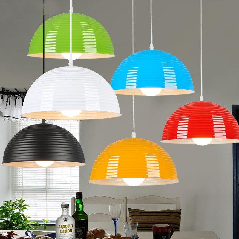 ФОТО Bulb Freely Aluminum SemiCircle Pendant Light Hotel Restaurant Cafe Bar Stylish simplicity Semicirculo colgante de luz