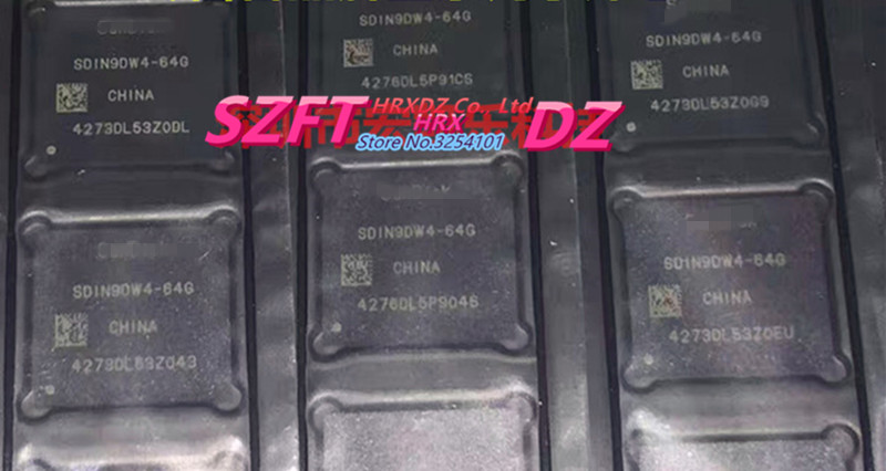 SZFTHRXDZ 100% new original SDIN9DW4-64G BGA EMMC new original mpc8270vrmiba mpc8270 516 bga
