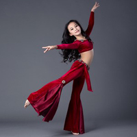 2018 New kids/children Belly Dance Suits Dresses Tops&Pants 2pcs/set Indian Bollywood Dancing Costumes Girls Exercise Clothes