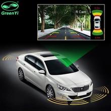 Двухканальный автомобильный Видео парковочный радар Датчик передний задний 16 мм 8 плоский датчик s 2 видео Cam вход для автомобиля монитор Android dvd-плеер