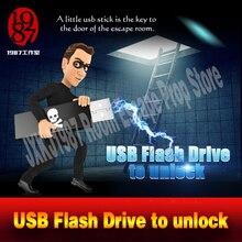 Accessoire pour évasion pour jeu daventure réel, clé USB, plug in, disque U pour unlcok depuis JXKJ1987