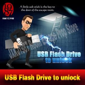 Image 1 - Room escape props real life adventurer game USB Flash Drive prop plug the usb disk U disk to unlcok from JXKJ1987 chamber room