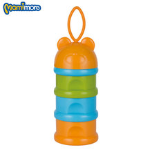 Mamimore 3 Layer Rushed Baby Food Containers Doseur Lait Breast Milk Storage Bag Fruit Cartoon Infant Milk Powder Box Snack Bear