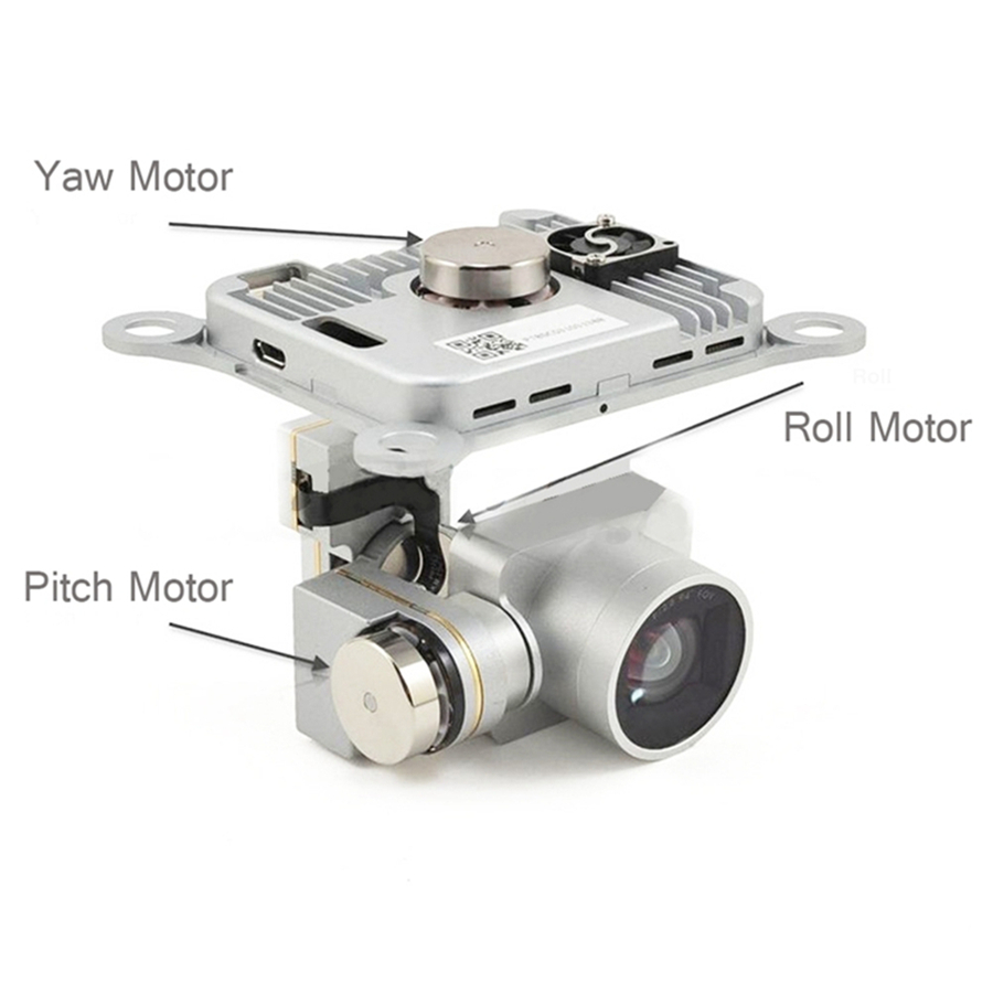 TAOKE Pitch Motor Gimbal Riparazione fotocamera PTZ Motor Mount per DJI Phantom 4 Pro Drone