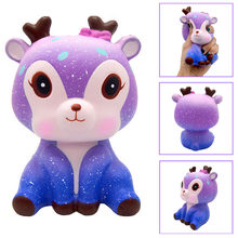 Besegad Slow Rising Squishy Sky Star Deer Squishi Starry Deer Squeeze Cartoon Animals Jumbo Stuffed Decompression Stress Toy(China)