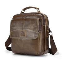 LAOSHIZI LUOSEN Vintage Leather Men Shoulder Bag Crossbag Men's Messenger Bag Genuine Leather Bag Male Leisure Cowhide 91201