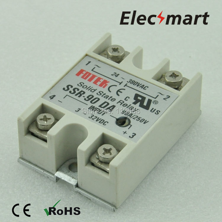 Fotek Solid State Relay  SSR DC-AC 90DA  90A/480V single phase free shipping mager 10pcs lot ssr mgr 1 d4825 25a dc ac us single phase solid state relay 220v ssr dc control ac dc ac