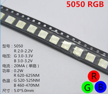 10pcs smd5050 LED SMD 5050 Chip di RGB LED PLCC-6 Tricolore Rosso Verde Blu LED Light Emitting Diode Lampada SMT perline(China)