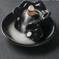 Mini Lotus Ceramic Incense Burner Smoke Backflow Censer Holder Ornaments Home
