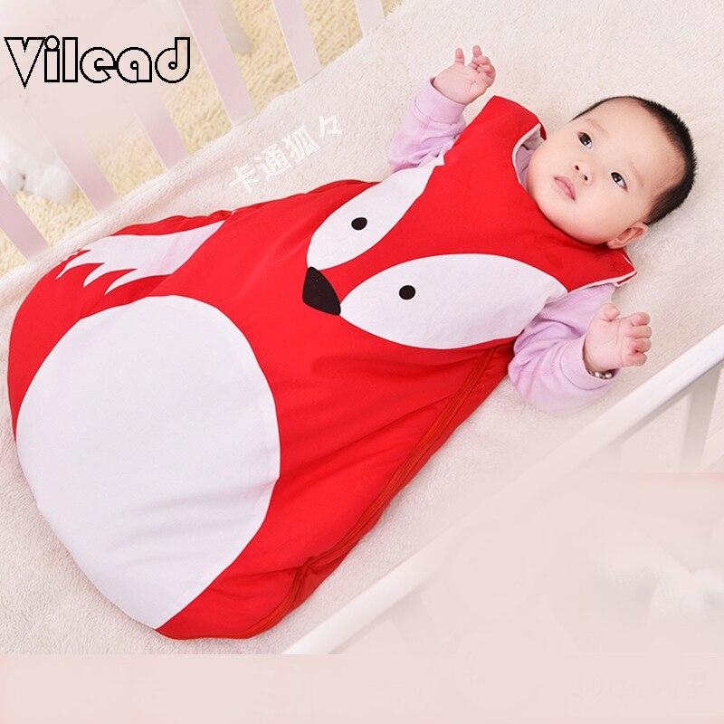 Детские спальный мешок для спальный мешок Детские Зимние спальный мешок для детей детские пижамы новорожденных мешок для сна панда лиса красный